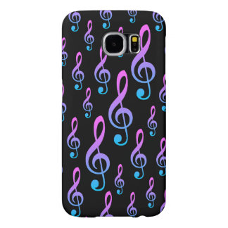 Treble Clef Musical Notation Symbol Pattern Samsung Galaxy S6 Cases