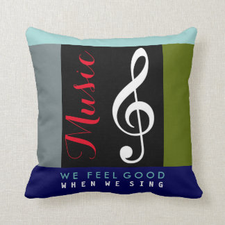 treble clef musical note, an awesome music cushion