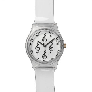 Treble Clef Musical Wristwatch