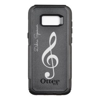treble clef, personalized music OtterBox commuter samsung galaxy s8+ case
