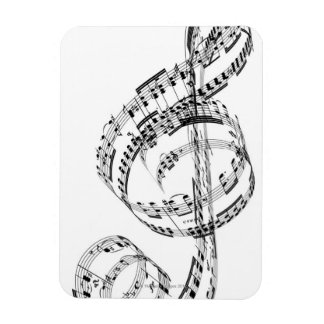 Treble Clef Rectangle Magnets
