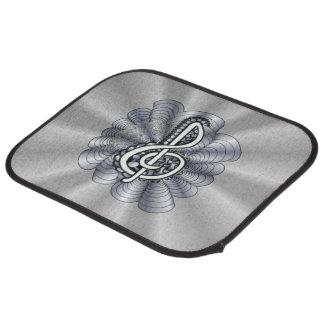 Treble Clef Silver Customizable Floor Mat