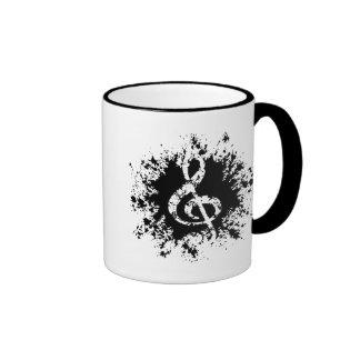 Treble Clef Splat Ringer Mug