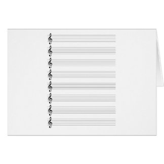 Treble Clef Staves Card