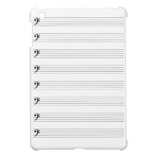 Treble Clef Staves iPad Mini Cover