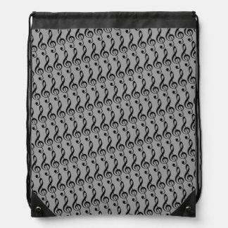 treble clefs pattern drawstring bag