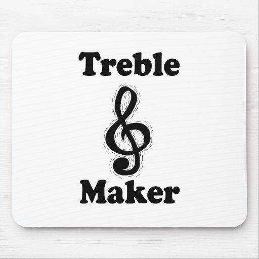 treble maker clef black funny music design mousepads