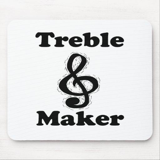 treble maker clef black funny music design mouse pads