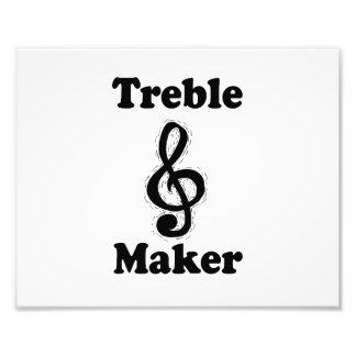 treble maker clef black funny music design photo