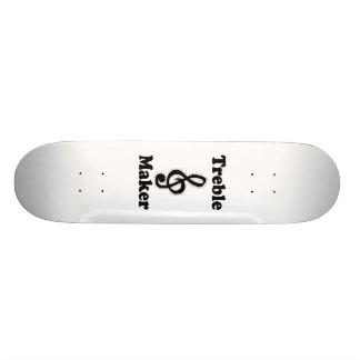 treble maker clef black funny music design custom skateboard