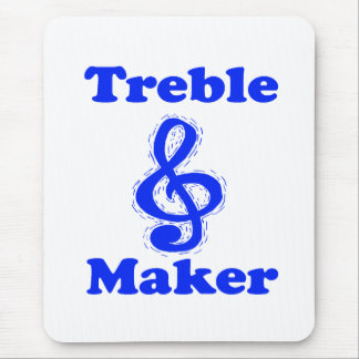 treble maker clef blue music design mouse pad