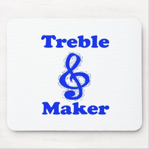 treble maker clef blue music design mousepads
