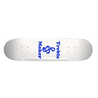 treble maker clef blue music design skateboard decks