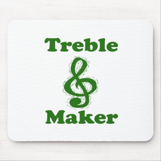 treble maker clef green funny music design mousepad