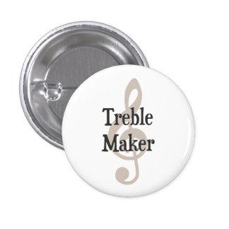 Treble Maker Clef Musical Trouble Maker 3 Cm Round Badge