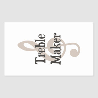 Treble Maker Clef Musical Trouble Maker Rectangular Sticker
