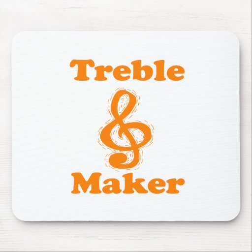 treble maker clef orange funny music design mousepad