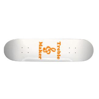 treble maker clef orange funny music design custom skateboard
