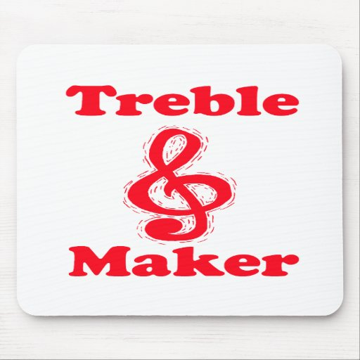 treble maker clef red music design mouse pads