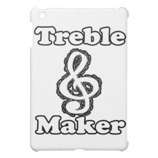 treble maker clef white blk outline music humour iPad mini covers