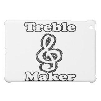 treble maker clef white blk outline music humour iPad mini cases