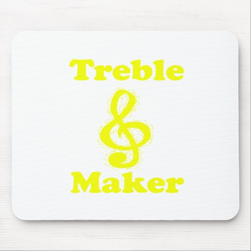 treble maker clef yellow funny music design mouse pad