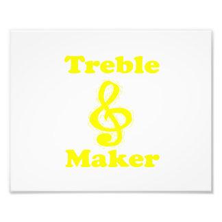treble maker clef yellow funny music design photo