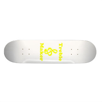 treble maker clef yellow funny music design skateboard decks