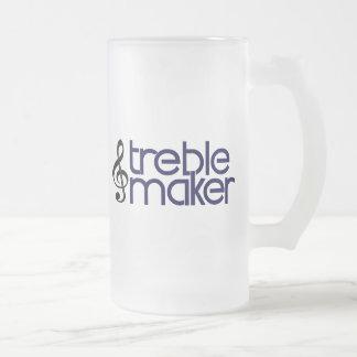 Treble Maker Frosted Glass Beer Mug