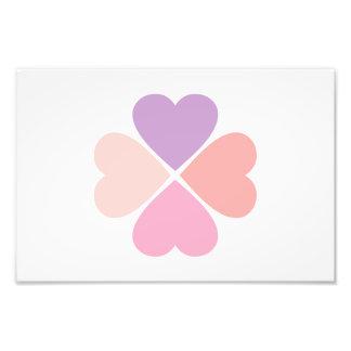 Trébol de suerte de corazones día de San Valentín Fotografias