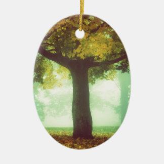 Tree #2 ceramic oval decoration