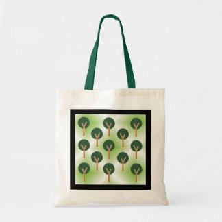 Tree abstract art budget tote bag