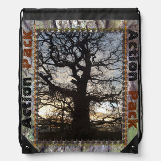 Tree:Action Pack Drawstring School Bag