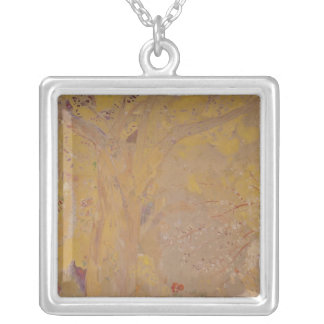 Tree Against a Yellow Background, 1901 Silver Plated Necklace