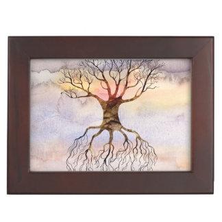 Tree Against The Sky Keepsake Box