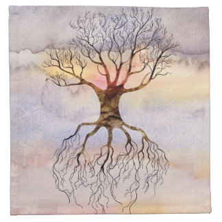 Tree Against The Sky Napkin
