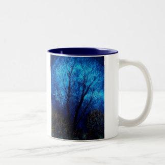 Tree and Blue Sky, Evening. Mug