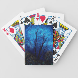 Tree and Blue Sky, Evening. Playing Cards