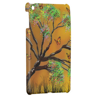 tree and butterflies iPad mini cover