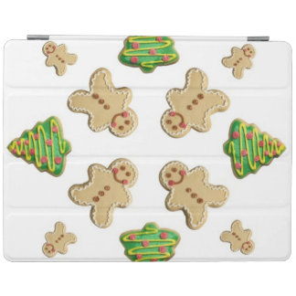 Tree and Gingerbread Man Cookie Snowflake iPad Cover