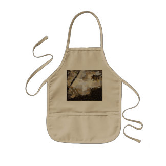 Tree and greenery framing the sun kids apron