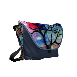 Tree and Ink Transparent Layers Commuter Bag