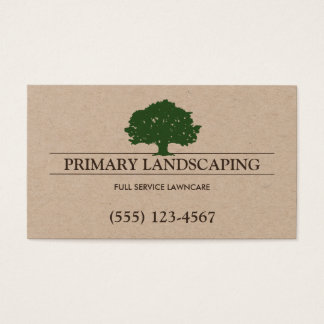 Tree and Lawn Service Landscaping Landscaper Business Card