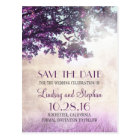 tree and love birds rustic vintage save the date postcard