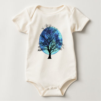 Tree and Moon Baby Bodysuit