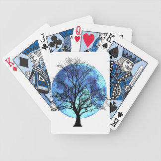 Tree and Moon Bicycle Playing Cards