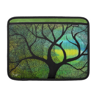 Tree and Moon - Blue and Yellow Watercolors MacBook Air Sleeves