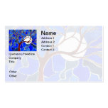 Tree and Moon on Canvas - Blue Pack Of Standard Business Cards
