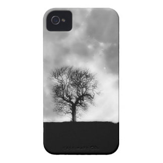 Tree and Moon silhouette iPhone 4 Case-Mate Case