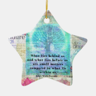 Tree and Nature Art Collage with Emerson Inspirati Christmas Ornament
